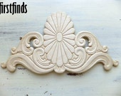 Wood Applique Furniture Embellishment Large Sunburst Decoration Door Detail Drawer Dresser Kitchen Onlay Ornate Trim DETAILS BELOW