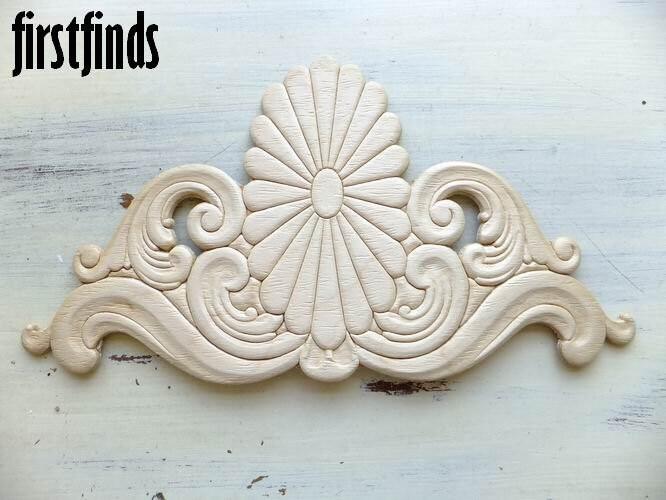 1 Wood Applique Furniture Embellishment Large Sunburst