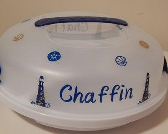 Personalized Lighthouse Snack Server Tray