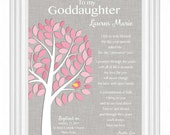 GODDAUGHTER Custom Gift - COMMUNION or BAPTISM Gift - Gift for Goddaughter - Christening/Dedication - Gift from Godparents- other colors