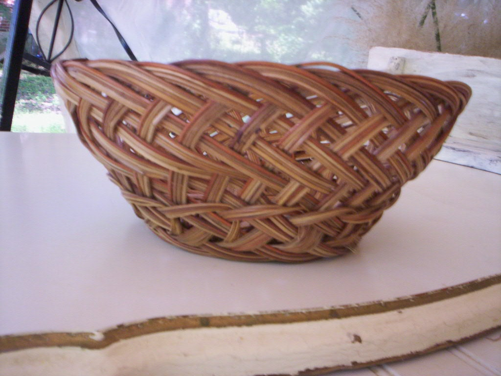 Old Handmade Baskets : Handmade basket vintage traditional country