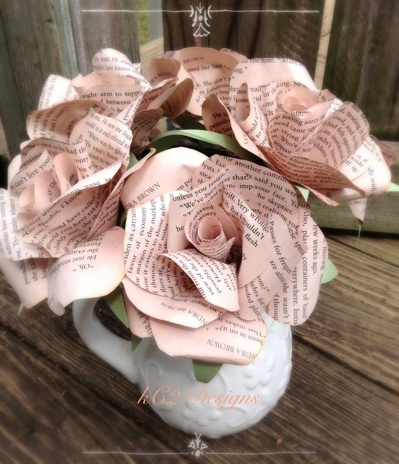 Tea paper flowers stained paper roses set of paper roses zoom dhlflorist Image collections