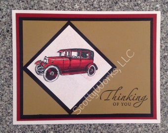 Thinking of You card, perfect for birthday, get well or Fataher's Day  B1-5