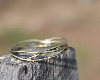 Woven branches bangle