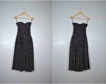 Vintage Polka Dot Sundress, Vintage Polka Dot Dress