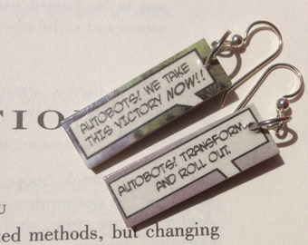 Comic Earrings - Autobots