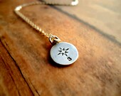 Due South Necklace, Compass Rose, Southern Necklace, Nautical Jewelry, Southern Culture, Sterling Silver Pendant, Bridesmaid Gift