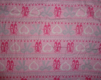 Pink Ballet Shoes/Dance Flannel Fabric by the Yard