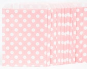 25 Pink with White Polka Dot Paper Bags for Candy Bars, Favors and Packaging Gifts-25 Count 5 inch x 7 inch D5