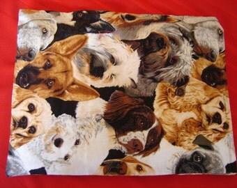 Dog Breed Large Head Print Corn Cozie Back Warmer