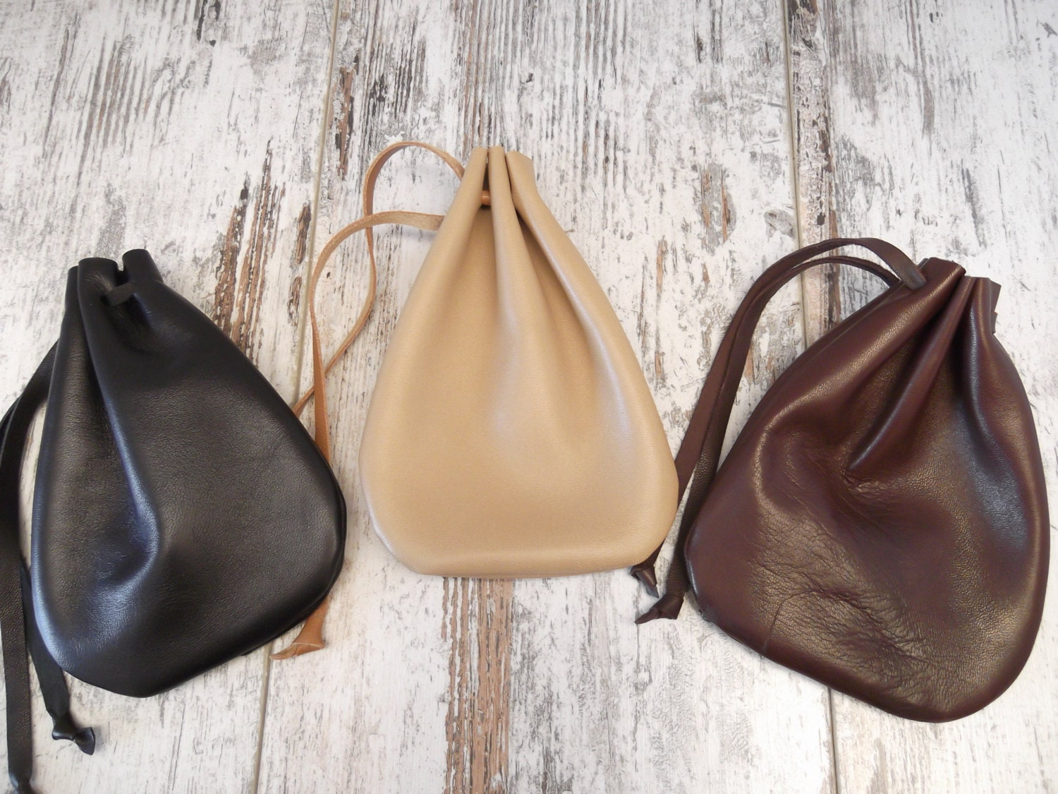 Leather Drawstring Pouch Drawstring Bag Medicine Pouch