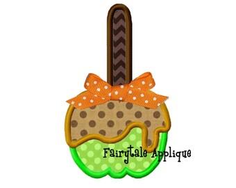 Digital Machine Embroidery Design - Carmel Apple Appliqué