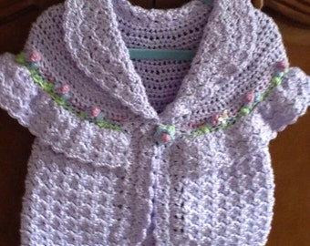 Item 72 Little girls sweater size 1-2. Lavender