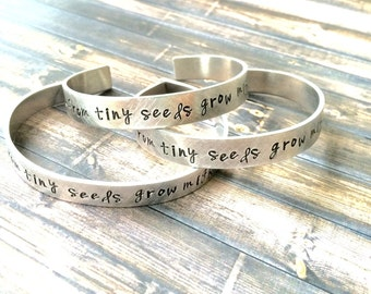 from tiny seeds grow mighty trees bracelet , Preschool teacher gift, teacher gift, kindergarten teacher gift