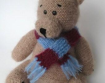 Mohair bear, Teddy Bear, Stuffed animal, Knitted teddy