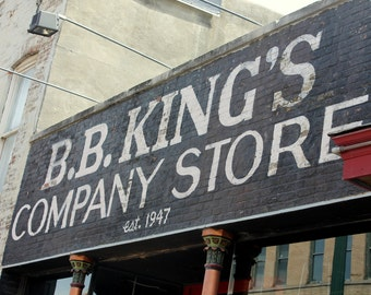 BB King's Company Store, Fine Art Photograph, Music Inspired Photograph, BB King Photograph. Color photo, Beale Street