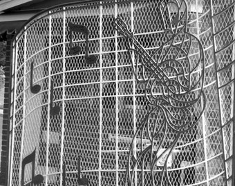 Graceland Gate, Fine Art Photograph, Music Photograph, Elvis, Black and White Photography, Elvis Presley