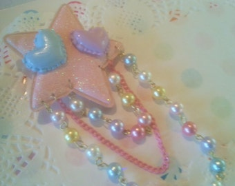 Cosmic Love Pin/Clip - Kawaii Decora Fairy Kei