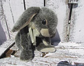 Huge Large Vintage Stuffed Animal Toy Gray Easter Bunny Rabbit