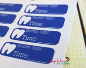 Dentist Appointment Planner Sticker - Size Customize-able