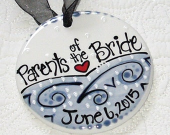 Parents of the Bride Ornament  //  Personalized Wedding Ornament