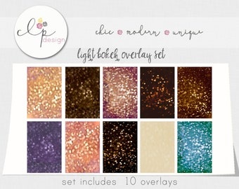 ON SALE- 10 Digital Textured Bokeh Overlays -300 dpi JPEG High Res - Beautiful Light Textured Overlays-  Add a Dreamy Texture - Professional