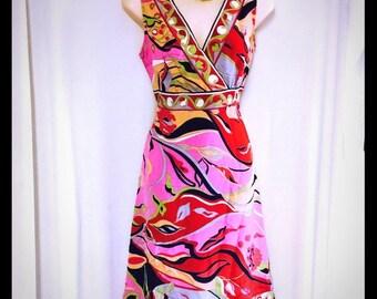Perfect ECI New York silk printed dress 6