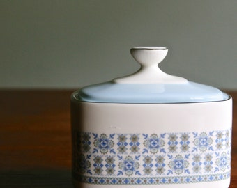 Rare Royal Doulton Counterpoint h5025 pattern sugar box with lid pristine