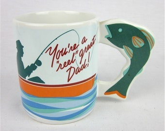 Vintage Fathers Day Fisherman Mug