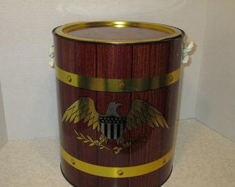 Vintage 'American Eagle' Portable Cooler