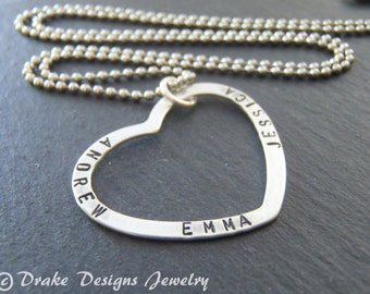 Mom necklace with kids names mommy necklace