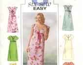 Empire Waist Dress Pattern Butterick 4444 Size 6-8-10-12 Bust 30.5-42 Six Easy Dresses Modern Sewing Pattern Uncut