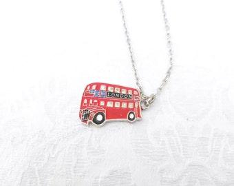 London Bus Necklace / men's  jewelry  / women's jewelry / London Bus /  boys jewelry / Jewelry / Double Decker Bus Necklace / women / men