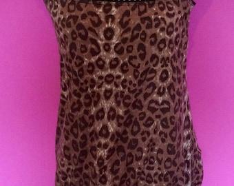1980's vintage leopard print vest / top