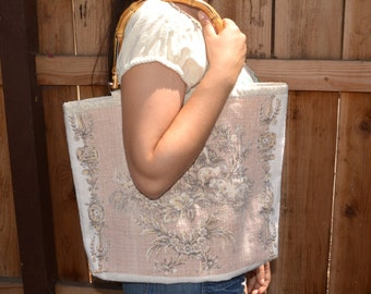 Vintage Linen Handbag