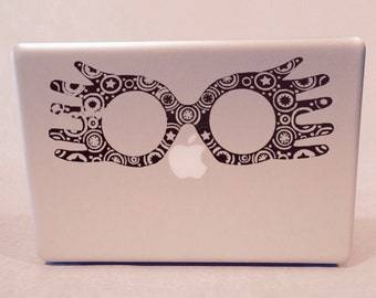 Luna Lovegood's Glasses from the Quibbler Vinyl Decal