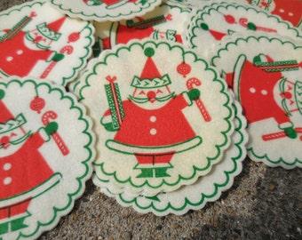 19 Vintage Christmas Paper Coasters SANTA Atomic Mid Century Modern  MCM