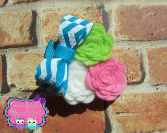 Mini Felt Flower Trio With Mini Stacked Felt by ...
