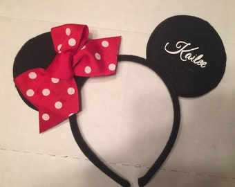Personalized mickey mouse inspired headband