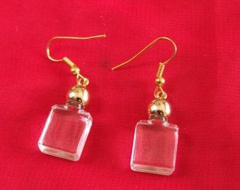 Vintage style Mini Perfume Bottle Earrings