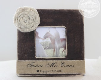 Engagement Gift Personalized Picture Frame 'Future Mrs' Engagement Gift for Couple Wedding Frame