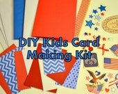 Card Making Kit for Children - 4th of July Cards - 4th of July Card Making Kit