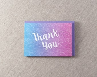 Thank You Letterpress Greeting Card