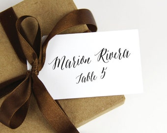 Place Card Tags - Calligraphy Script