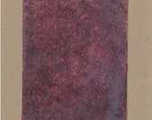 """SALE- 25 DOLLARS- Monoprint """"Geode No. 3"""" 6.75x9"""" - Hand-Pulled Contemporary Print"""