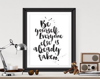 Illustration Poster Print  'Be Yourself' A4 or A3