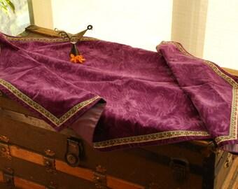 Velvet violet table runner