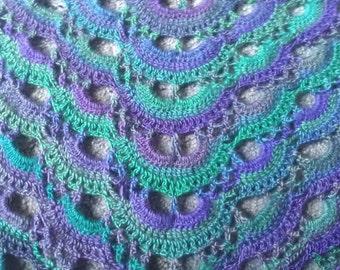 """SALE** Beautiful Crochet """"Dragonfly"""" Shawl"""