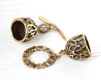 Brass Toggle Clasp - Handmade Toggle - Archaic Clasp - Brass Toggle - Handmade Findings L2903