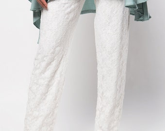 Silhouette Broken White Lace Pants